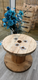 Cable reel drum coffee table upcycle etc Garden stool