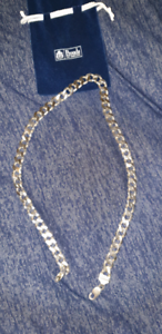 Men's sterling silver chunky necklace
