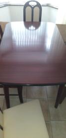 Mahogany table chairs