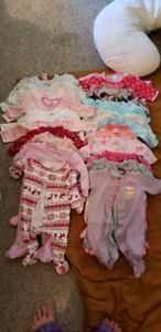 0-3 Month Clothing Lot EUC 53 items
