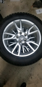 215/60/17 Ice Guard tires almost new with rim 5x112