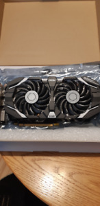 MSI Video Card 3gig DUAL FAN GTX 1060 like new in box
