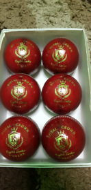Cricket Red, White & Pink Leather Hard Ball, GRADE A, HAND STITCHED, M