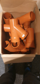 12× Y junction 45 degree double socket for 110 mm drainage pipe