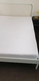 Ikea NESTTUN metal king size bed fram complete
