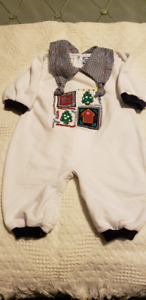 IN NEW CONDITION BABY BOY'S CHRISTMAS ROMPERS