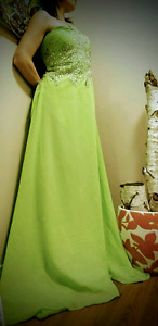 NEW WITH TAGS! Green dress w embroidered rhinestones