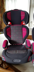 Graco Universal 2/3 Group Childs Car Seat. 2in1. Pink 15-36kg 4-12 Y