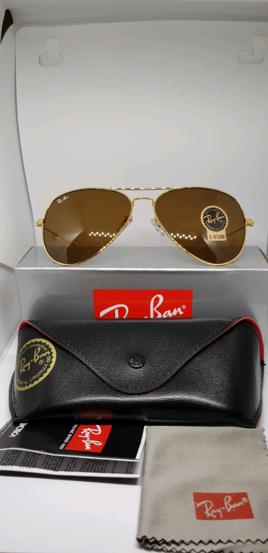 8f048f302cd2 Rayban aviator sunglasses brown