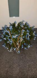 Artificial hanging flower basket