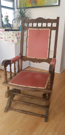 Antique American style wooden rocking chair