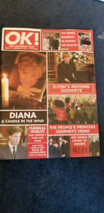Princess Diana tribute magazines