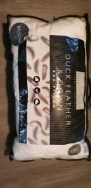 Duck Feather + Down Box Pillow Brand New