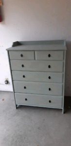 Refurbished dresser wood  mountain haze green with antiqued fat