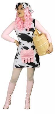 Kuh Kühe Kostüm Overall Plüsch Damen Kuhkostüm Tier Kleid Hippie Kuhkleid - Weibliche Kuh Kostüm