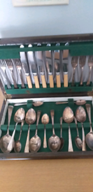 Nickel silver knife and fork set