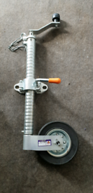 Heavy duty jockey wheel and clamp
