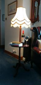 Vintage standard lamp with shelf