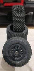 Proline gladiators rc wheels and tires, traxxas slash.