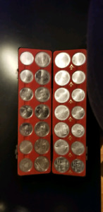 1976 olympic coin set over 30 ozt of silver