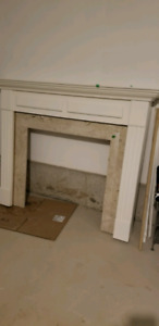 Brand new Fireplace mantle with marble