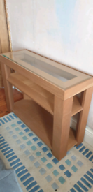 Oak console table, M+S