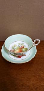 Hammersley Bone China  Cup & Saucer Fruit