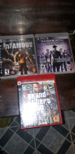 3 ps3 games for sale. $15 each