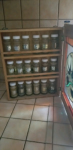 Stained glass spice rack
