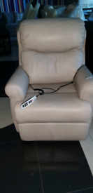 Gplan Real Italian leather Riser and Recliner Mobility Armchair