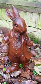 Mr Rabbit Cast Iron Statue