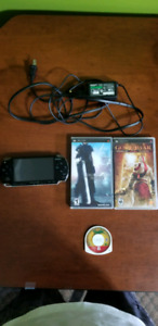 PSP-2001  with 3 games