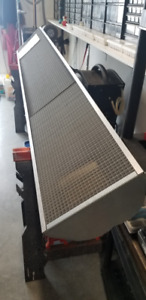 Natural gas linear heater for bistro restaurant or home patio.