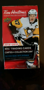 2018/19 Tim Horton's hockey cards.