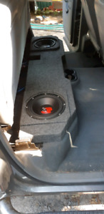 "Dual 10"" sub box for a truck. Fits under back seat. From my Ram"