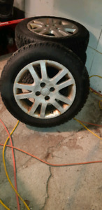 WINTER TIRES AND RIMS  4BOLT