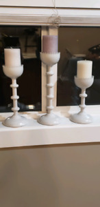 Candle holder set w/candles