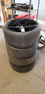 """Niche 20"""" 5x114.3 Front and Rear Rims w/Tires"""