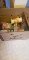 Big box of food.  No holds.  PENDING PICK UP
