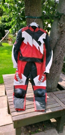 Ladies Two Piece Frank Thomas Motorcycle Leathers.