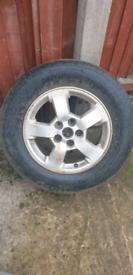 Kia sportage alloy wheel off 4wd