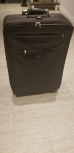 Dinova Black Large Sized Luggage Suitcase