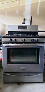 Frigidare Stainless Steel Gas Range + Whirlpool Stainless Steel