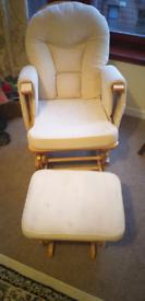 Serenity nursing glider maternity chair