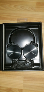 Sony extra bass headphones.