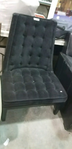 Elegant style accent black fabric chair! SUNDAY SALE!! REDUCED$$