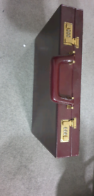 Vintage real leather brief case