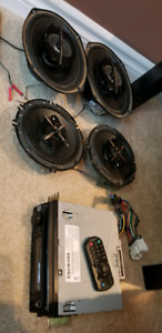 "KENWOOD Stereo w/ 6.5"" and 6x9"" 3-way speakers"