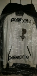 White Pellepelle men's leather jacket $400. obo