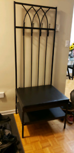 3 in 1 coat hanger, chair and shoe rack